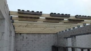 видео Устройство перекрытия по деревянным балкам своими руками