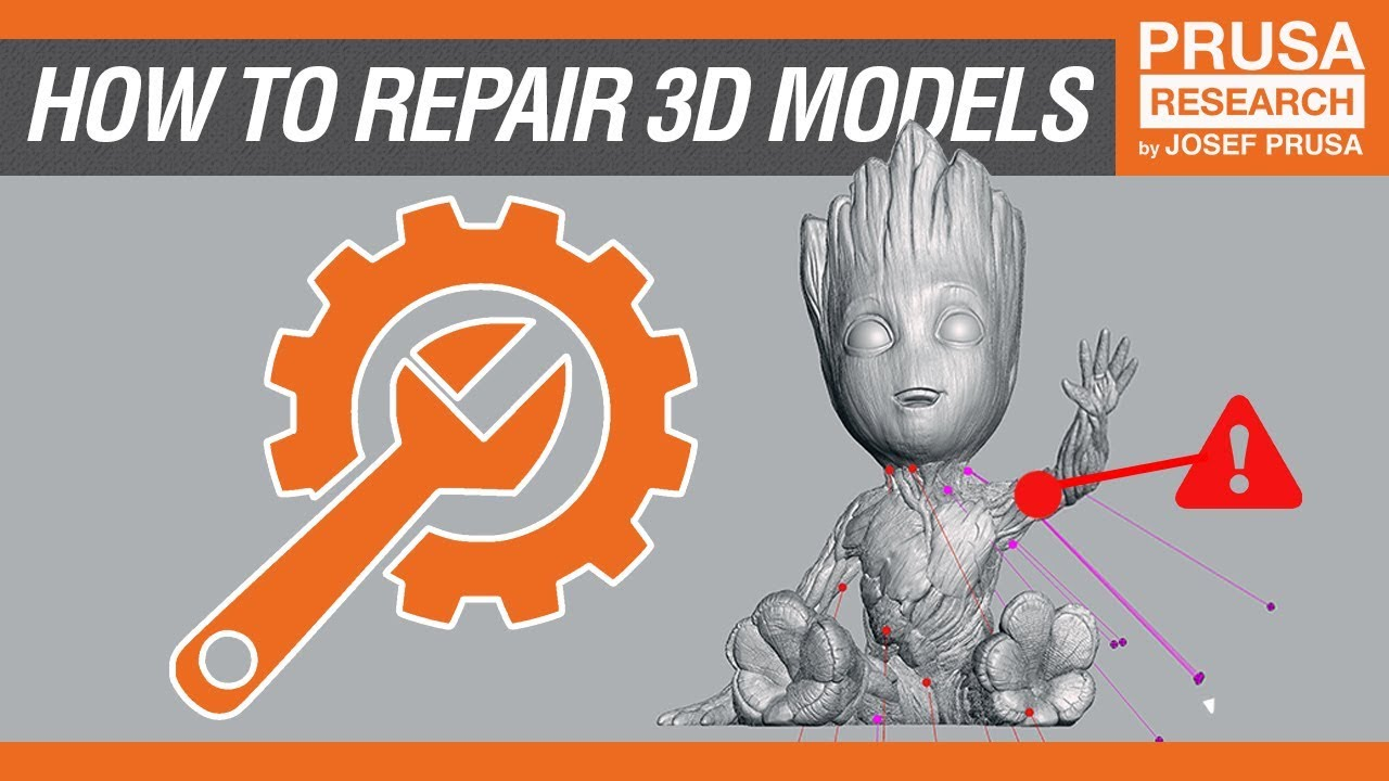 How to repair corrupted models for 3D printing