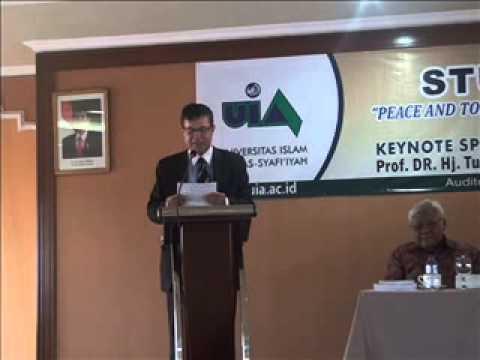 Hon Dr, Samura Kamara Speech on Studium Generale at UIA Jakarta