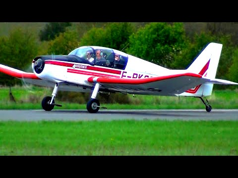 Takeoffs from Millau-Larzac [LFCM]. Piper, Cessna and more...