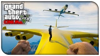 GTA 5 Online - FIRST PERSON CARGO PLANE STUNTS! (Funny Moments Gameplay) [GTA V]