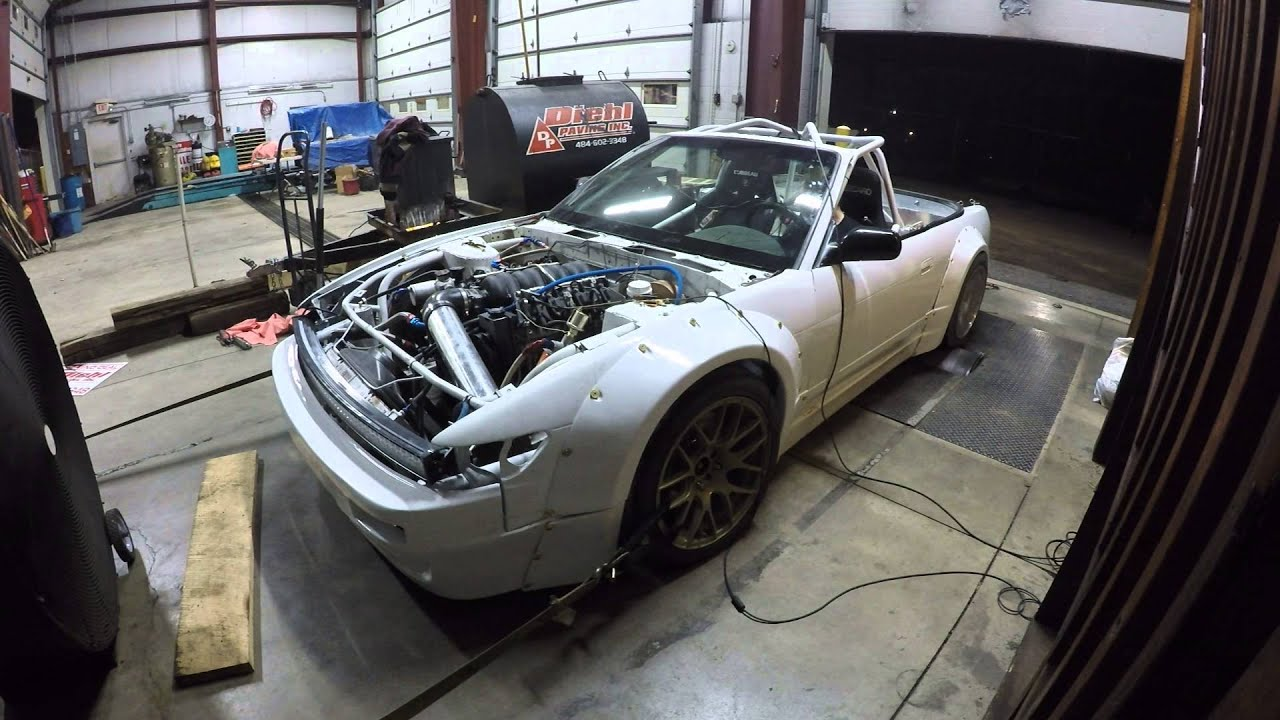 Flooring a ls2/3 powered 240 drift car light bar ftw - YouTube