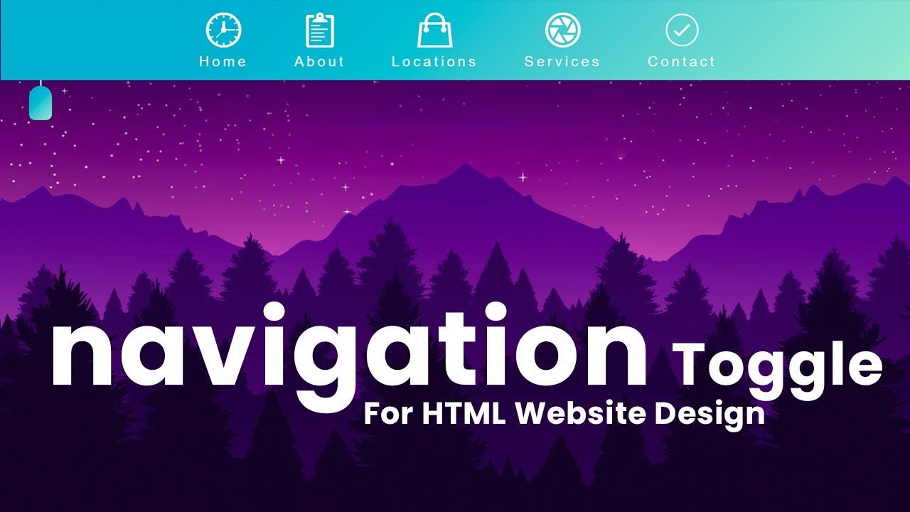 Creative Navigation Toggle Menu effect using HTML CSS JS - Latest Responsive Nav Toggle