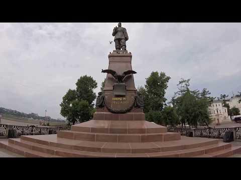 Statue of Czar Alexander III in Irkutsk [CC]