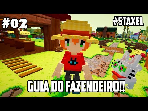 Staxel Gameplay (#02) Dicas e apresentações, entenda o sistema de CRAFTING do jogo!!