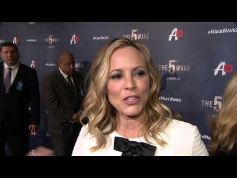 "The 5th Wave: Maria Bello ""Sergeant Reznik"" Red Carpet Movie Interview"