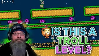 IS THIS A TROLL COURSE? | Super Mario Maker 2 - Expert No Skip Challenge with Oshikorosu [3]