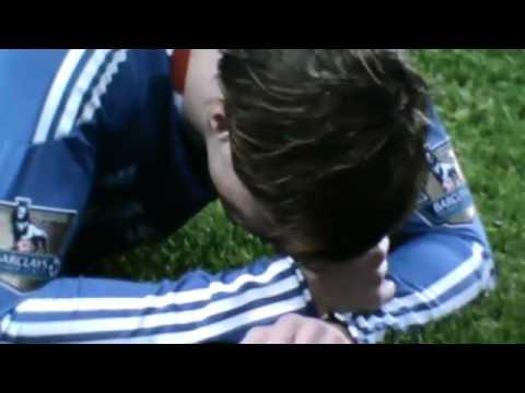 Daniel Agger punches Fernando Torres CHELSEA vs LIVERPOOL 0-1 ynwa
