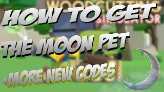 How To Get The Moon Pet +More New Codes | Woodcutting Simulator | Roblox