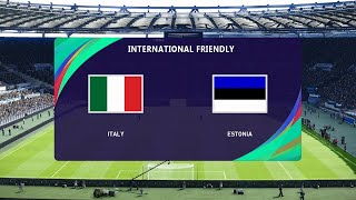 Italy vs Estonia International Friendly 11 11 2020 PES 2021
