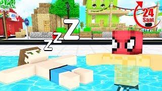 FAKİR 24 SAAT HAVUZDA KALDI! 😱 - Minecraft