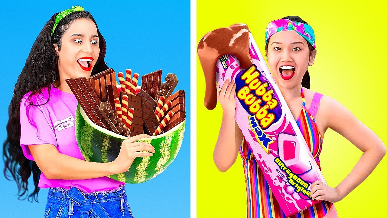 Real Food Vs Chocolate Food Food Challenge With Chocolate By 123 Go Gold Blog Ema News Blogs Video
