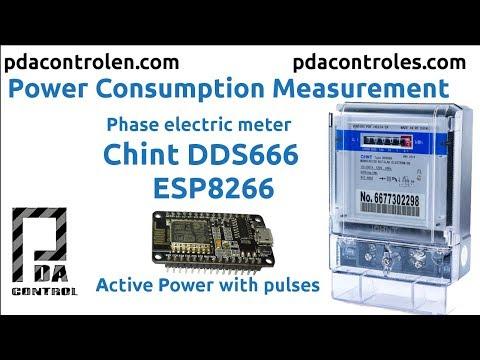 Electric Consumption Meter CHINT + ESP8266 & Matrix Led MAX7912: 9