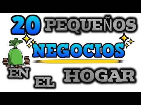 20 PEQUEÑOS NEGOCIOS EN EL HOGAR