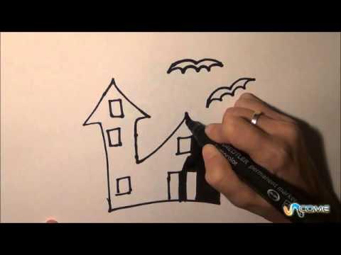 Come disegnare la silhouette di una casa incantata youtube for Disegnare una piantina di casa