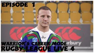 Rugby League Live 4 | Warriors Career Mode Episode 1