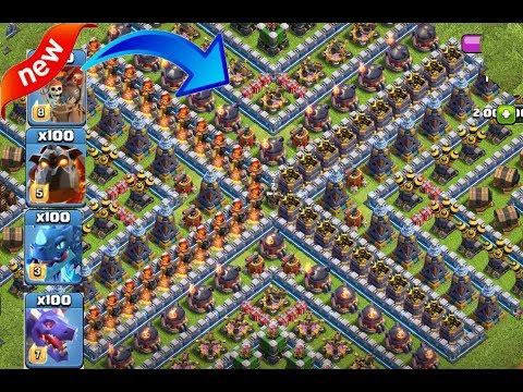 Who Can Survive This Difficult Troll Trap On Coc🔥🌹troops Vs Troll Trap😎coc Videos😘unity Clash😊