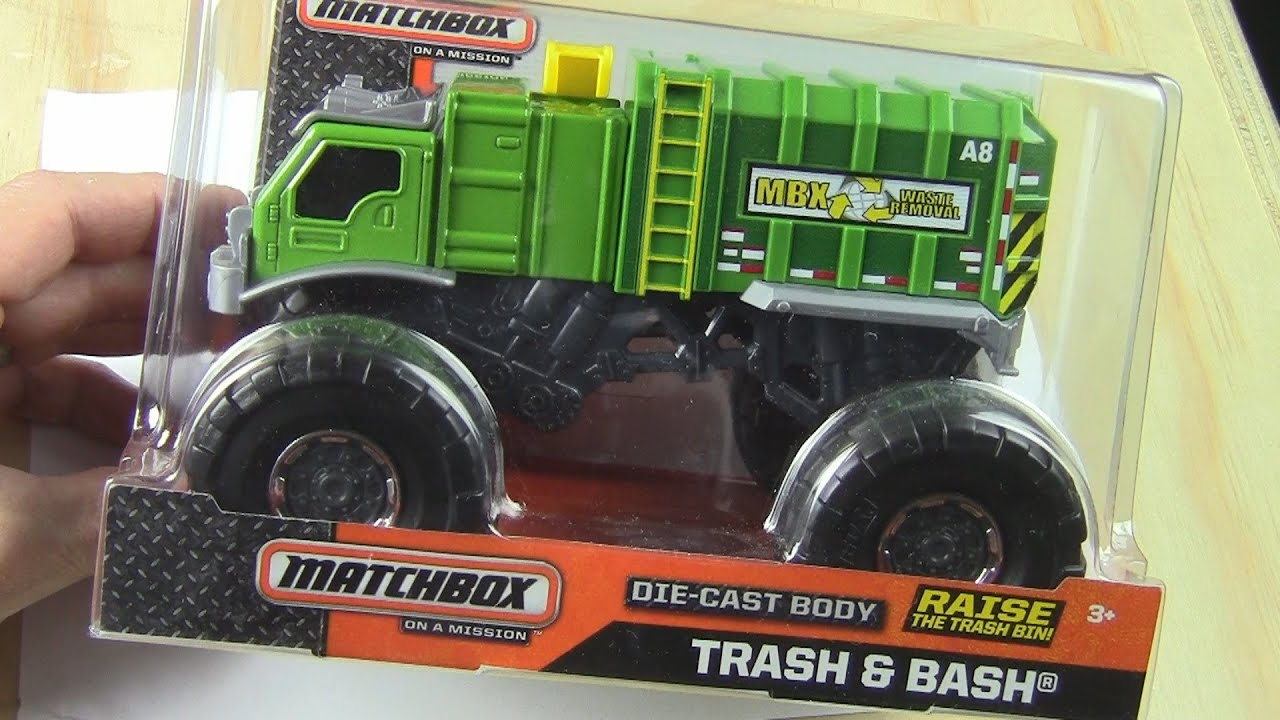 Garbage Truck Video Hot Wheels Unboxing Trash And Bash