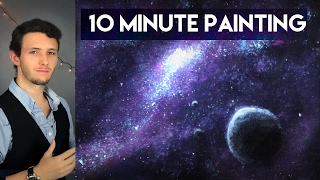 Video Painting a Galaxy and Stars with Acrylics in 10 Minutes! download MP3, 3GP, MP4, WEBM, AVI, FLV Juni 2018