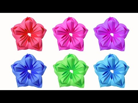 How to make beautiful paper flowers (very easy) - HD