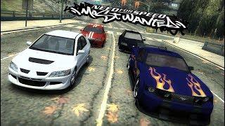 NFS MW Online Race Mustang vs Evo vs Golf vs Evo (GameRanger)