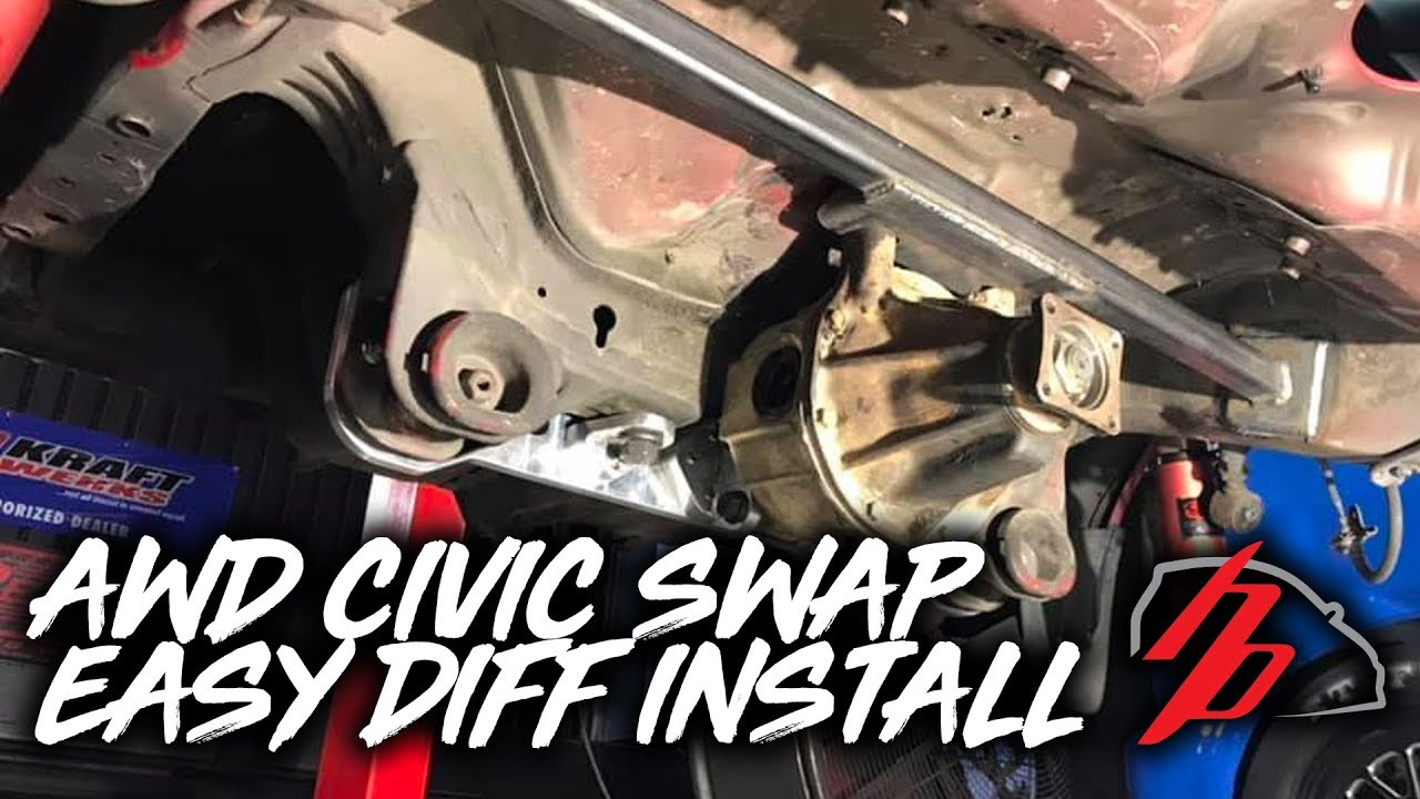 1000HP AWD Civic Gets An EASY Rear Diff Install