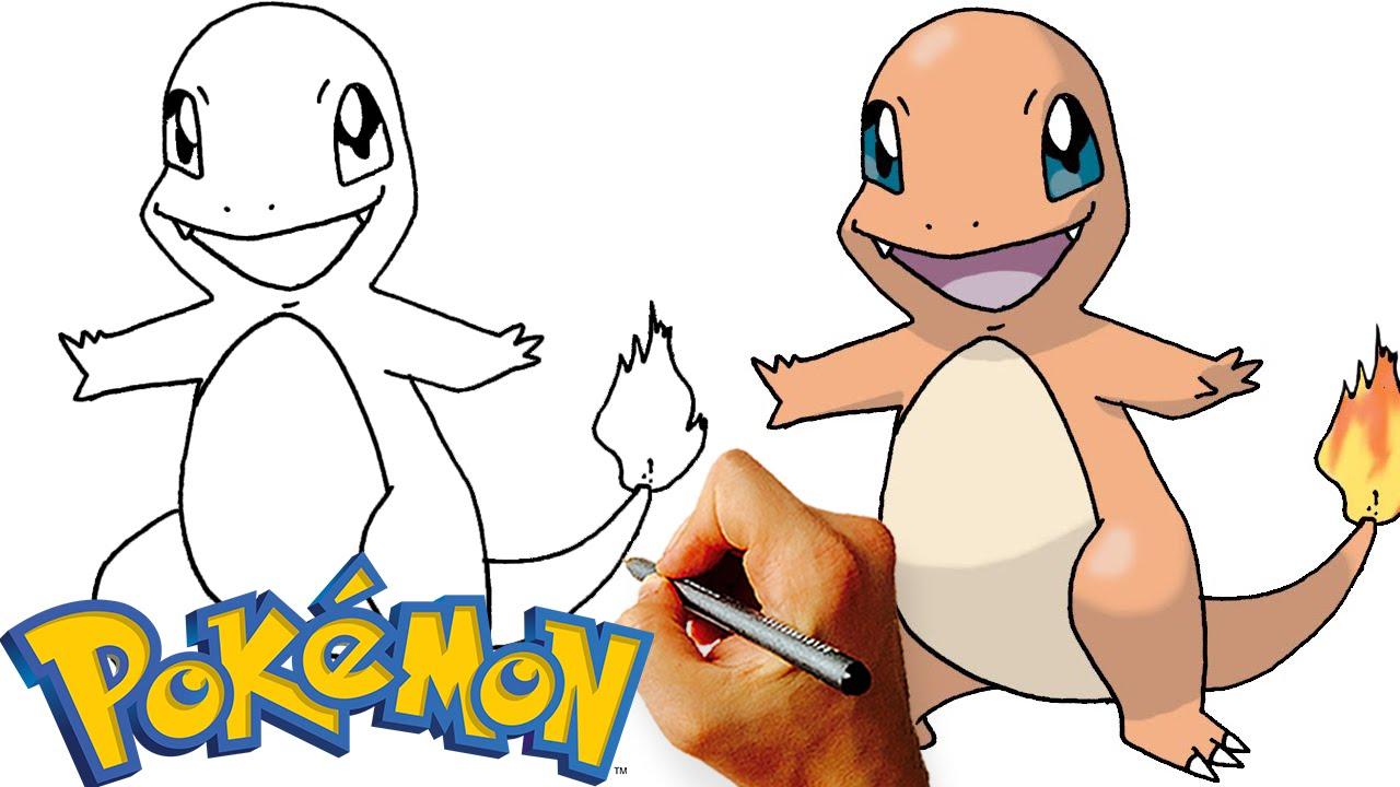 how to draw charmander step by step pokemon youtube