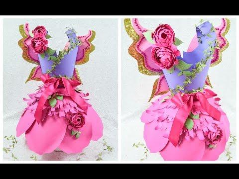 Paper Dress Tutorial- Paper Flower Dresses- Part 2