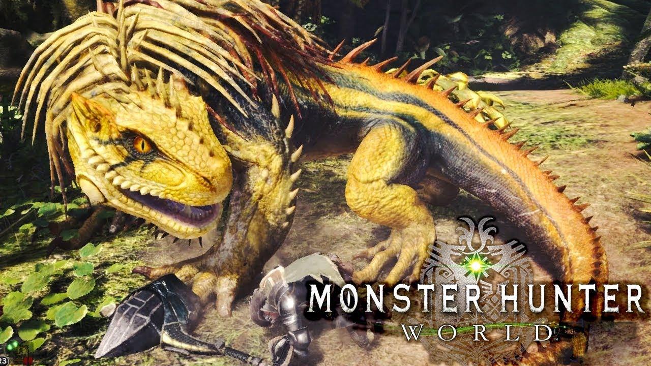 Monster Hunter World Beta Monster >> Monster Hunter World Beta is FINALLY HERE! - Defeating Great Jagras Gameplay - YouTube