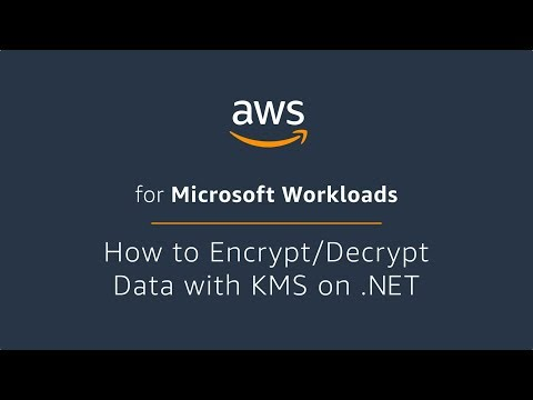 How to Encrypt/Decrypt Data with AWS KMS on .Net