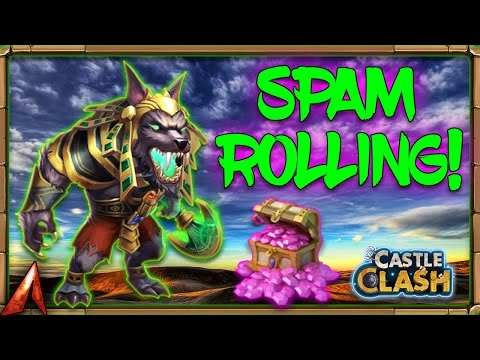 Spam Rolling 360k Gems For New Hero Anubis! Castle Clash
