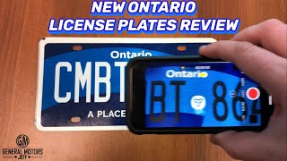 Review! New Ontario License Plates!