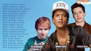 Bruno Mars, Ed Sheeran, Charlie Puth 2018 - New Pop Music Mix 2018
