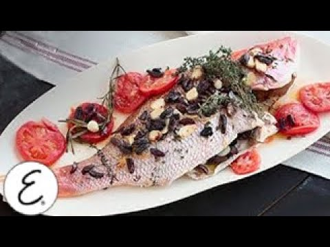 Whole Roasted Red Snapper With Tomatoes, Lemons, Thyme And Parsley | Emeril Lagasse