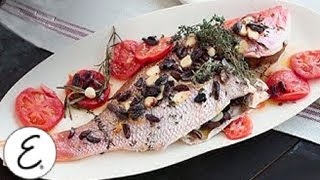 Whole Roasted Red Snapper With Tomatoes, Lemons, Thyme And Parsley - Emeril Lagasse