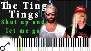 The Ting Tings - Shut up and let me go [Piano Tutorial] Synthesia | passkeypiano