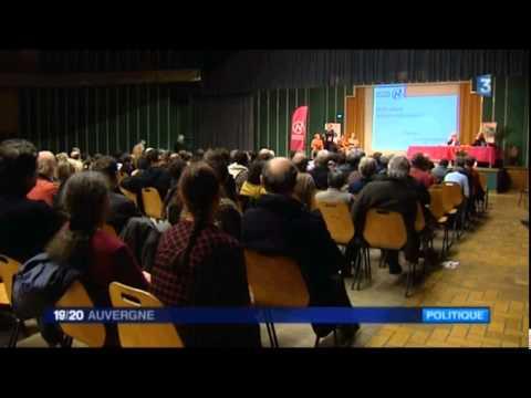 Super Reportage de FR3 Auvergne lors du 19/20 du 12 mars 2015 sur Nouvelle Donne dans le Puy de Dôme