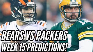 CHICAGO BEARS VS GREEN BAY PACKERS PREDICTIONS!