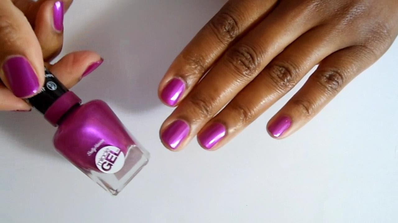 New Sally Hansen Miracle Gel Nail Polish Review and Demo - YouTube