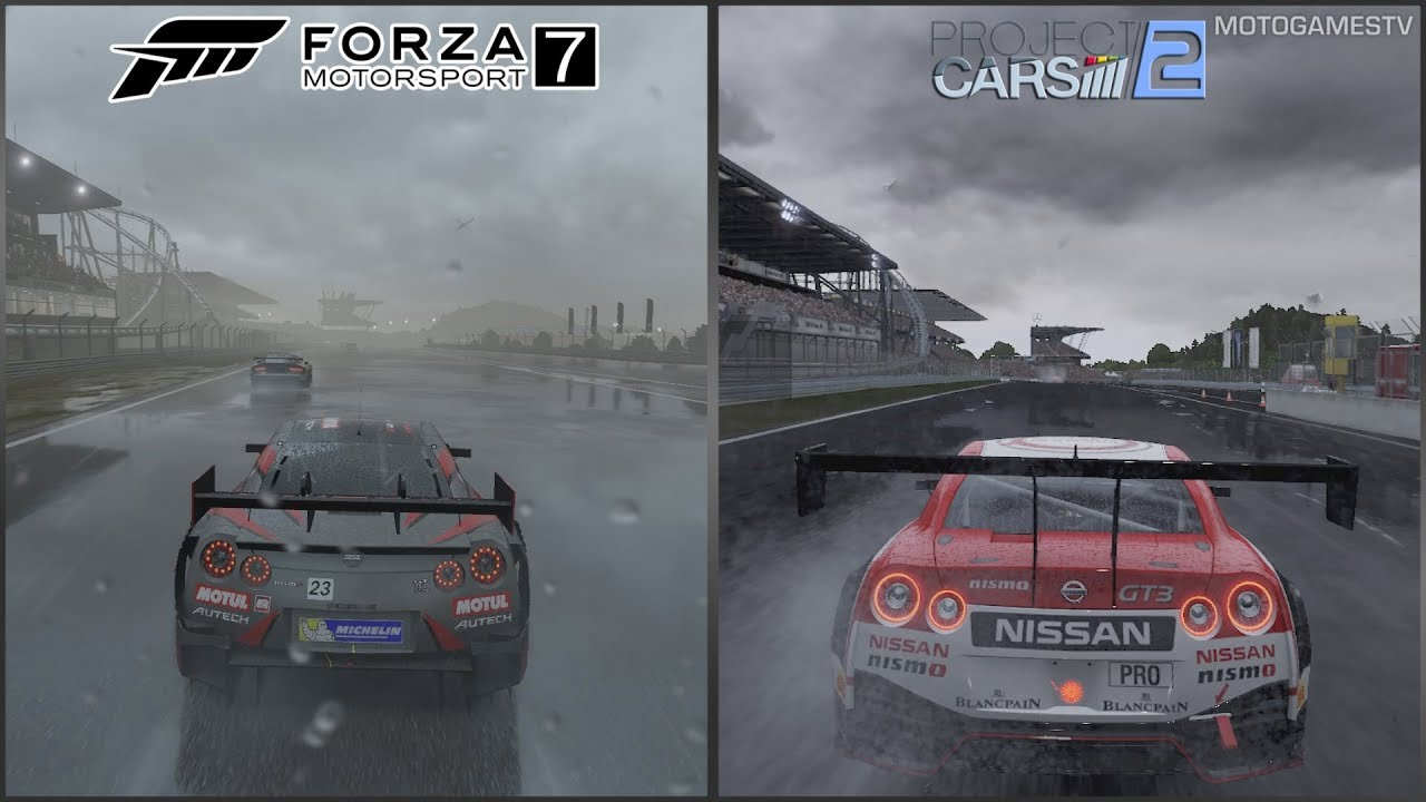 forza 7 demo vs project cars 2 dynamic weather early comparison rh youtube com