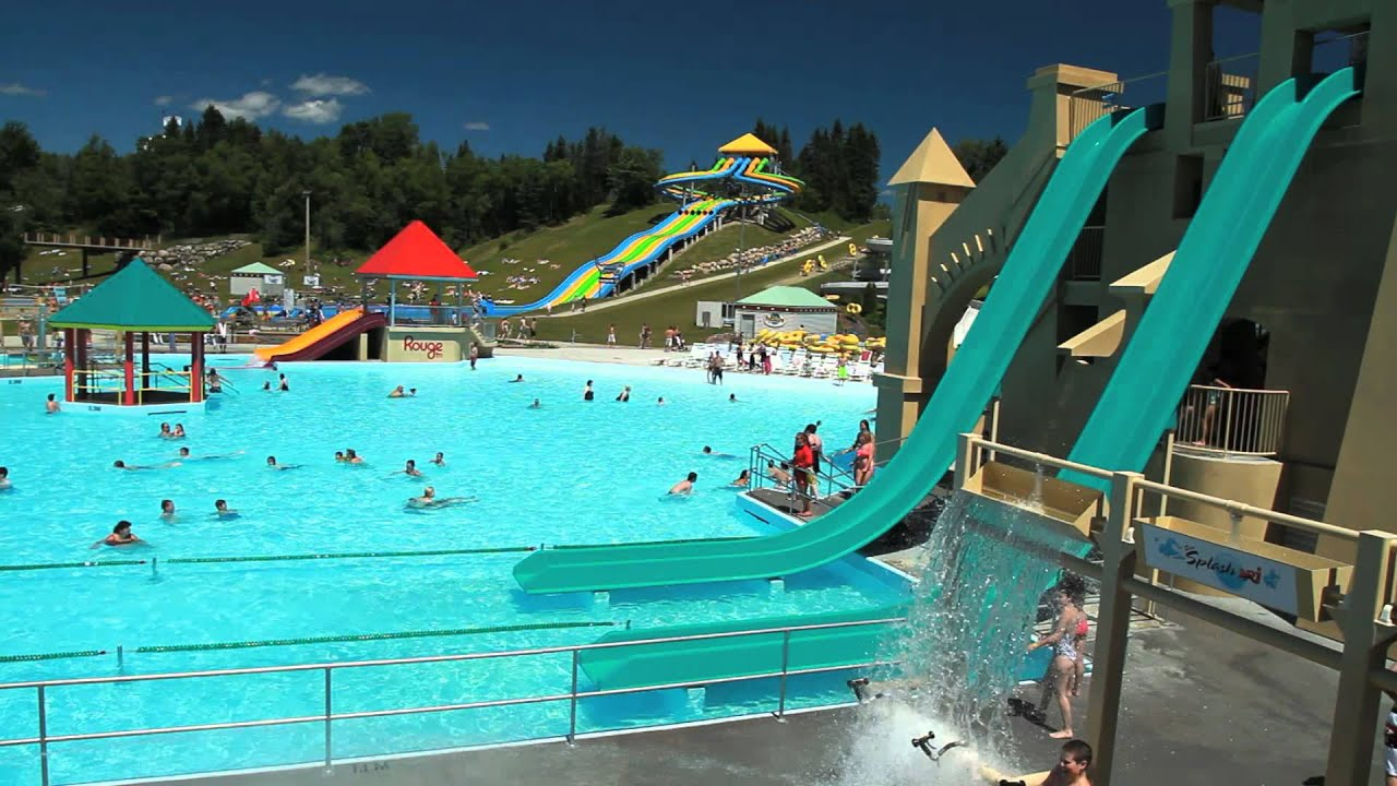 Mirage village vacances valcartier youtube for Chamalieres piscine