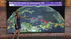 10News meteorologists are monitoring forecast models that show a tropical depression over the easter