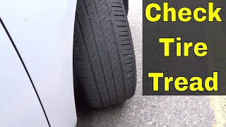 how to check tire tread using a toonie