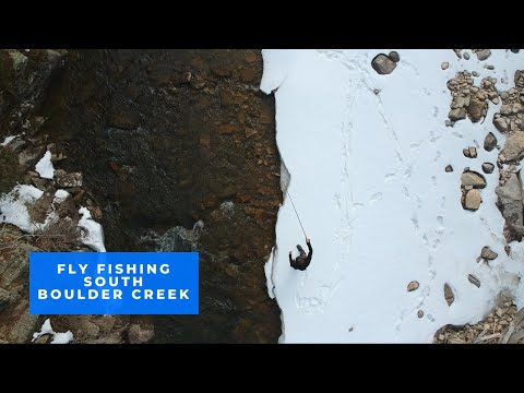 Taking The Drone Out For A Spin - Fly Fishing South Boulder Creek- April 2020