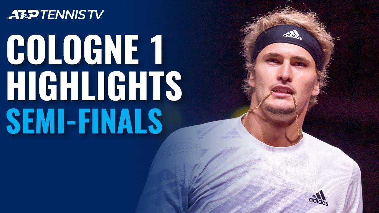 Zverev, Auger-Aliassime Set Showdown!   Cologne 1 2020 Semi-Final Highlights