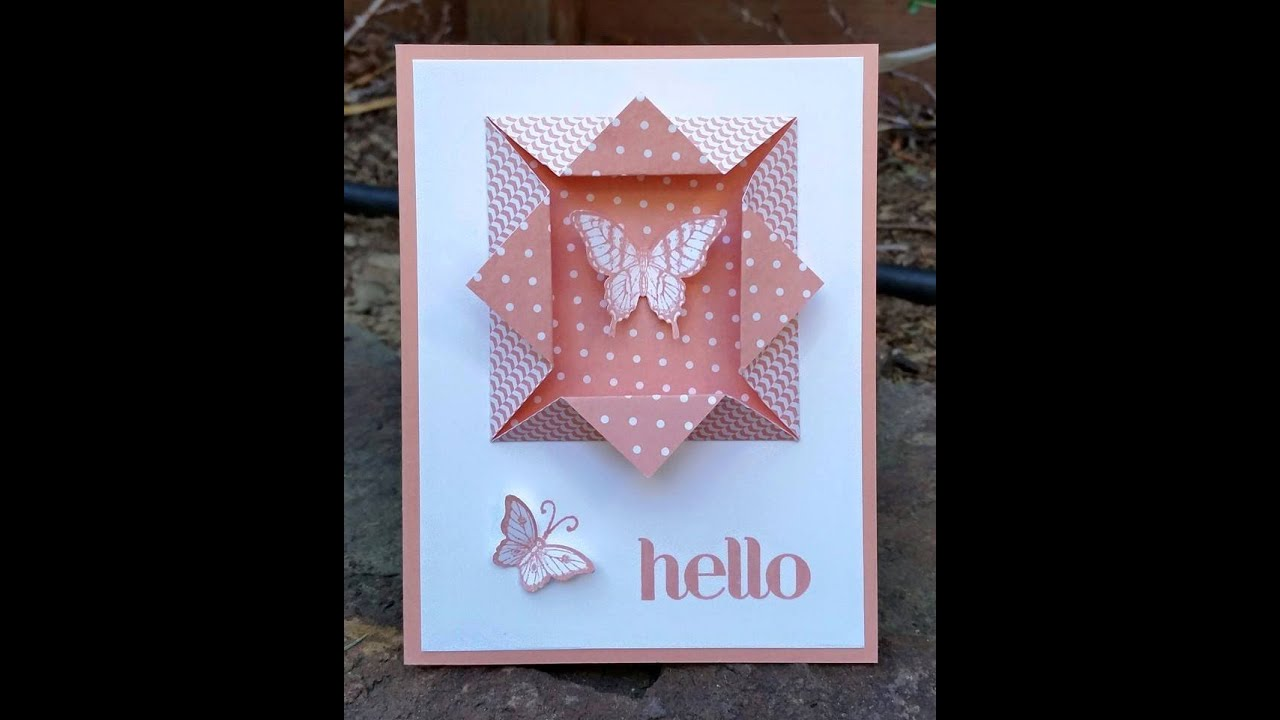 easy  u0026quot folded window frame u0026quot  for your card