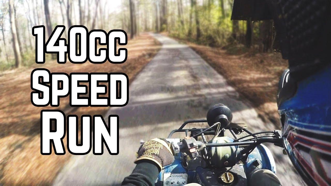 140cc Mini ATV Top Speed Run, Kick Start, Oil Cooler