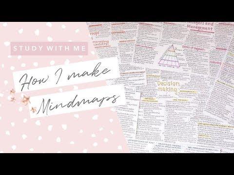 How I Make Mindmaps - Study With Me #1