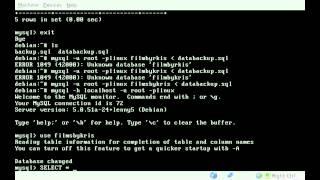 MySQL - Restoring Database From Backup file - BASH