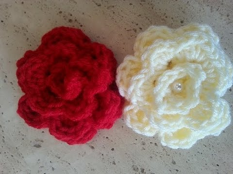 Helenmay Crochet Quick And Easy Rose Diy Tutorial Youtube